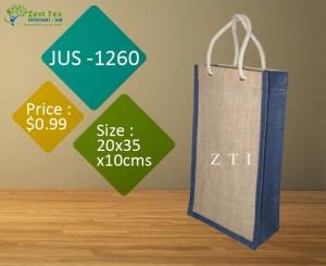 Designing jute wine bags