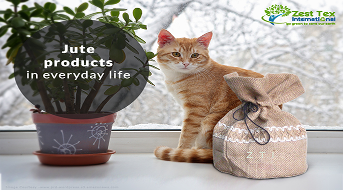 Jute products in everyday life.
