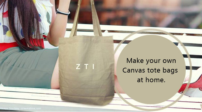 DYI. Make your own Canvas tote bags at home.