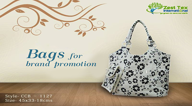 Bags for brand promotion by ZestTex a cotton bags manufacturer.