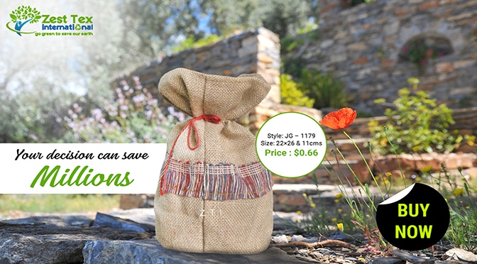Your shopping trend with jute products can make the difference!